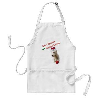 Westie Christmas Wishes Standard Apron