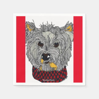 Westie Cocktail Napkin Disposable Napkins