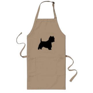 Westie Dog (black) Long Apron