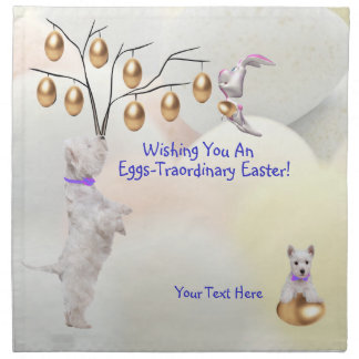 Westie Eggs -Traordinary Easter Wishes Napkin