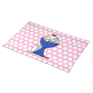 Westie Ice Cream Party Placemat