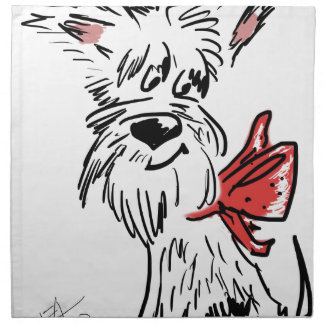 westie or scottie? napkin