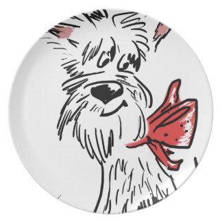 westie or scottie? plate