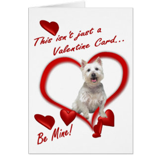 Westie Puppy Love In An Envelope - New Version #2 Greeting Card