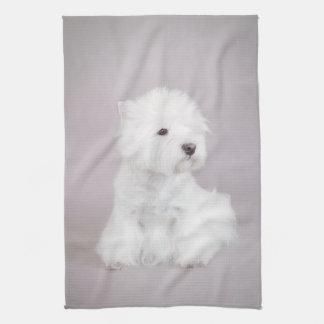 Westie Tea Towel