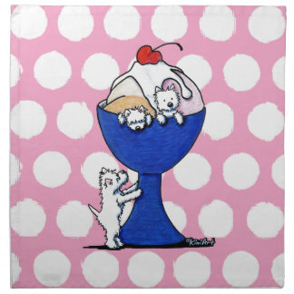 Westie Terrier Ice Cream Napkin