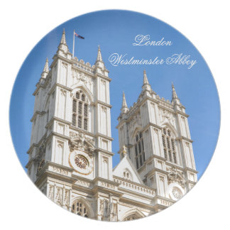 Westminster Abbey in London, UK Plates