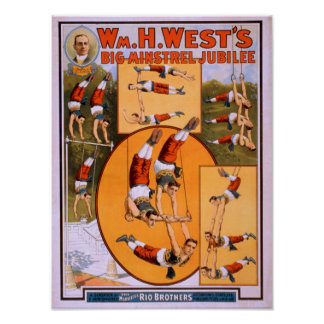 West's Big Minstrel JubileeGymnasts Poster