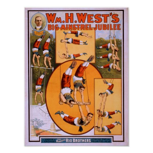 West's Big Minstrel JubileeGymnasts Poster