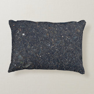 wet asphalt texture pattern bitumen pitch black ba decorative cushion