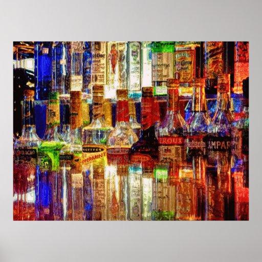 Wet Bar Abstract Print