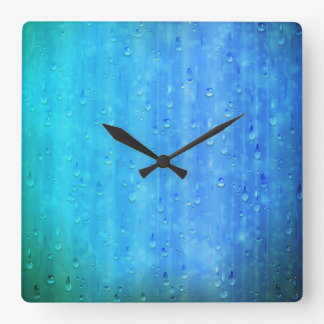 Wet Blue Wall Clock
