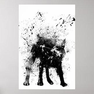 wet dog poster