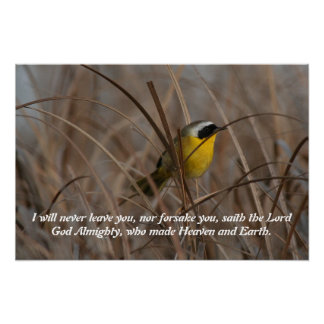 Wetlands Yellowthroat Bird Scripture Poster