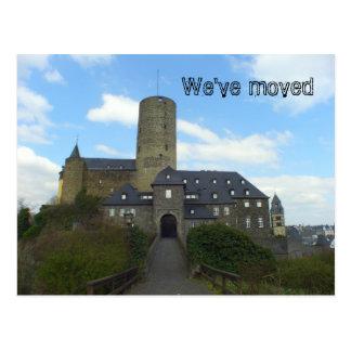 We've moved - castle motive cards postcard