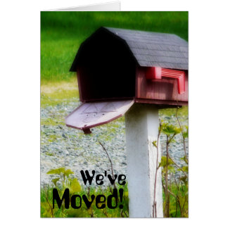 We've Moved! Country Barn Mailbox Announcement