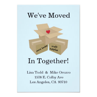 We've Moved In Together Announcement