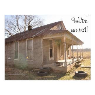 We've moved! postcard