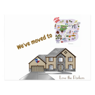 We've Moved to Allen Texas Postcard