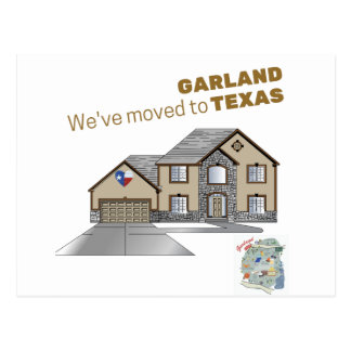 We've Moved to Garland Texas Postcard