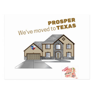 We've moved to Prosper Texas Postcard