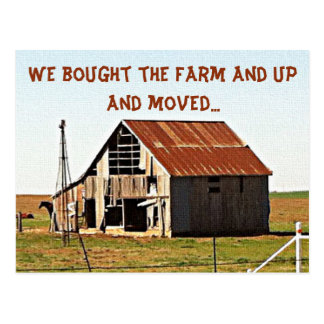 We've Moved to the Farm Moving Announcement Postcard