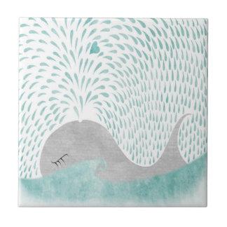 """Whale Love""Tile Tile"