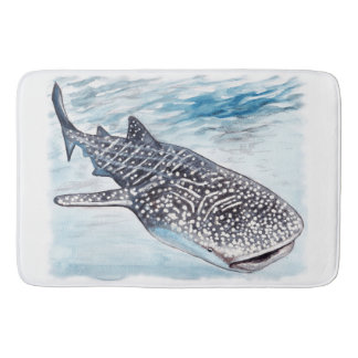 Whale Shark Artwork Bath Mat
