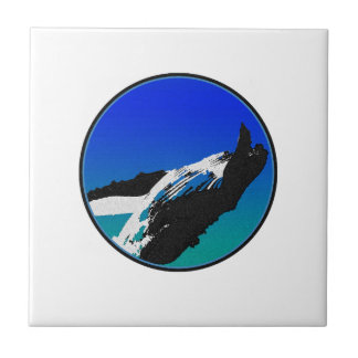Whale Small Square Tile
