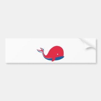 whale tail kids cruise design bumper sticker