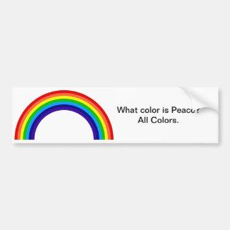 What color is Peace? Bumper Sticker