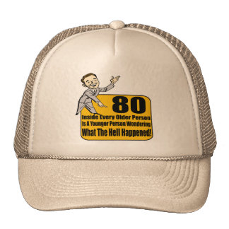 What Happened 80th Birthday Gifts Cap