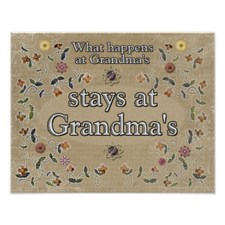 What happens at Grandma's _Print Poster