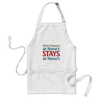What happens at Nana s Aprons