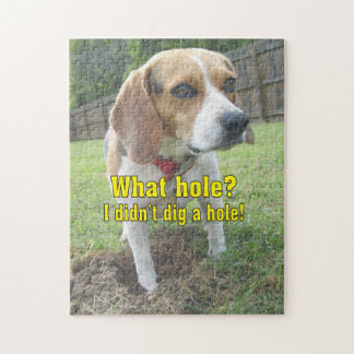What hole? I didn't dig a hole! Beagle Jigsaw Puzzle