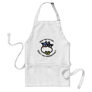 What part of Moo... Standard Apron