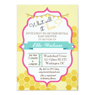 Browse Zazzle's Bee Baby Shower Invitations Collection and personalise by colour, design, or style.
