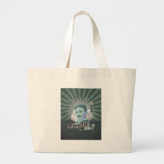 What would Do Tesla? Large Tote Bag
