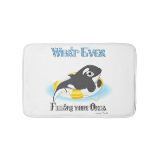 Whatever Floats Your Orca Whale Bath Mats