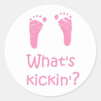 What's Kickin? stickers