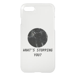 What's Stopping You? Marble Minimal Transparent iPhone 8/7 Case