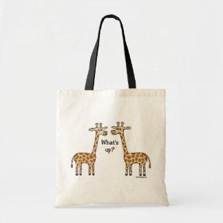 What's up? Giraffe totebag Tote Bag