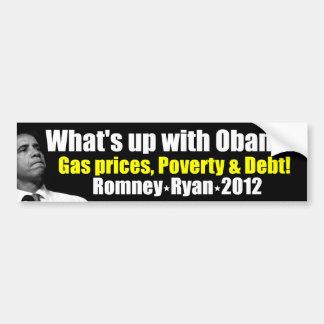 What's Up With Obama - Anti Obama Bumper Sticker