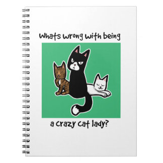 Whats wrong with being a crazy cat lady notebooks