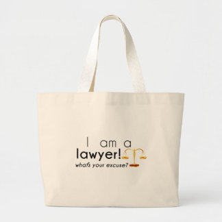what's your excuse? large tote bag