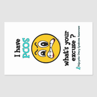 What's Your Excuse...PCOS Rectangular Sticker
