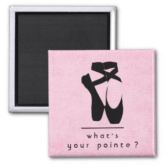 What's your pointe? Black Ballet Shoes En Pointe Magnet