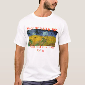 Wheat field with crows flying. T-Shirt