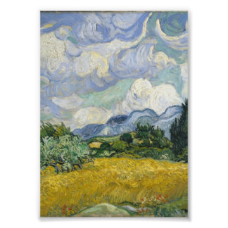 Wheat Field with Cypresses by Vincent van Gogh Photo Art