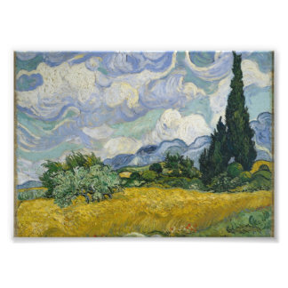 Wheat Field with Cypresses by Vincent van Gogh Photograph